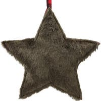 "11.25"" Brown Faux Fur Star Christmas Ornament Decoration"
