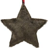 "11.25"" Brown Faux Fur Star Christmas Ornament Decoration"