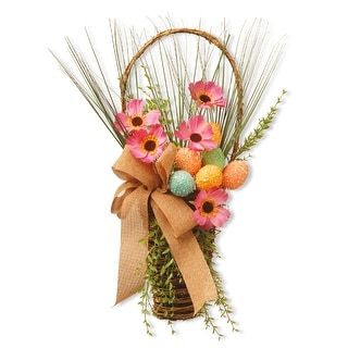 """23"""" Easter Basket with Flowers - N/A"""