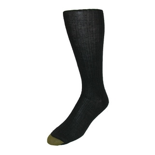 Gold Toe Men's Windsor Wool Over the Calf Socks (Pack of 3), Shoe Size 6 - 12 1/2 - Black - One Size