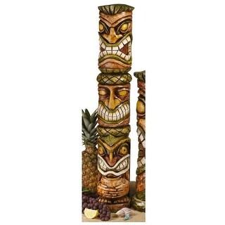 Aloha Hawaii Tiki Sculpture: Moai Haku Pani DESIGN TOSCANO Garden sculpture bar