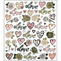 Love & Roses - Multicolored Stickers