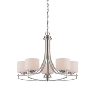 """Designers Fountain 86285 Axel 5 Light 1 Tier Chandelier - 36"""" Chain Included 27"""" Wide"""