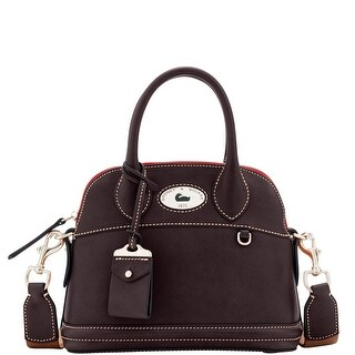 Dooney & Bourke Florentine Toscana Small Domed Satchel (Introduced by Dooney & Bourke at $368 in Sep 2016) - Espresso