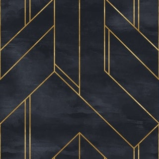 Link to Hertis  Modern Geometric Removable Wallpaper - 10'ft H x 24''inch W Similar Items in Wall Coverings