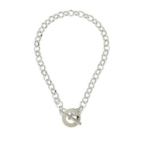 Marc by Marc Jacobs Womens Chain Link Logo Toggle Necklace