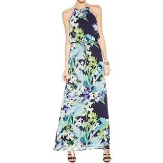 Vince Camuto Womens Maxi Dress Chiffon Printed