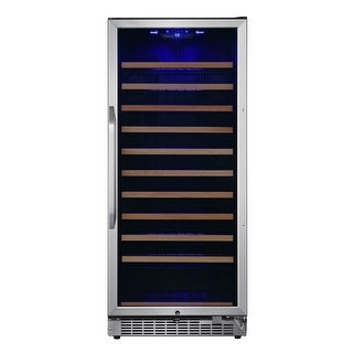 """EdgeStar CWR1212SZ  24"""" Wide 111 Bottle Capacity Free Standing Single Zone Wine Cooler with Even Cooling Technology"""