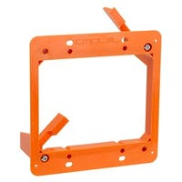 Low Voltage 2 Gang Bracket Mount Dual Multipurpose DryWall Mounting Wall Plate