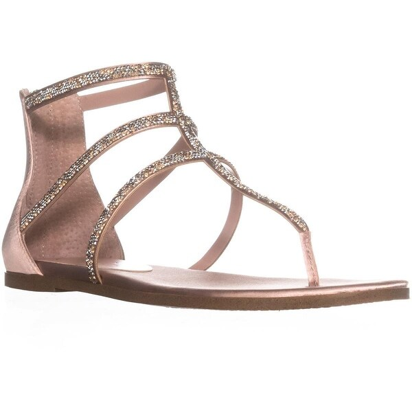 Jessica Simpson Cammie Zip Up Flat Sandal, Nude Blush - 9 us