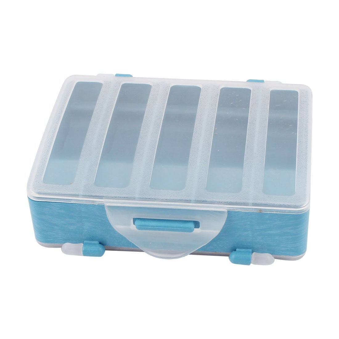 Unique Bargains Double Sides 10 Compartments Fishing Tackle Box Hook Lure Case
