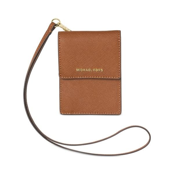 952483642a5e Shop Michael Kors Womens Jet Set Travel Card Case Leather Lanyard ...
