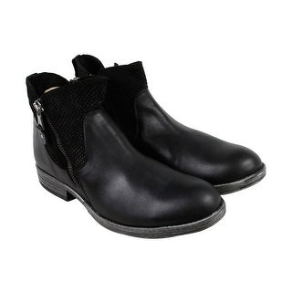 GBX Tacks Mens Black Leather Casual Dress Zipper Boots Shoes