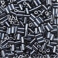 Toho Bugle Tube Beads Size 1 / 2x3mm Metallic Hematite 8 Grams - Thumbnail 0