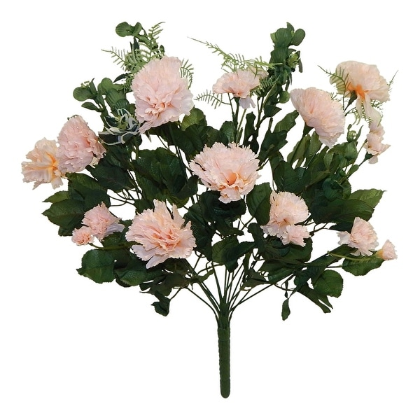 "25"" tall carnation bush x 18. Opens flyout."