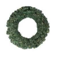 "24"" Pre-Lit Noble Pine Artificial Christmas Wreath - Clear Lights"