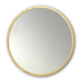 "Currey and Company 1088 Aline 42"" High Wall Hung Antique Round Mirror"
