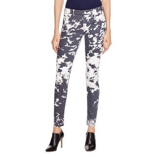 Mother Womens The Looker Skinny Jeans Denim Printed