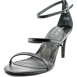 Charles By Charles David Zion Women Open Toe Synthetic Black Sandals