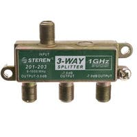 F-pin Coaxial Splitter, 3 Way, 1 GHz 90 dB