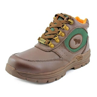 BearTec Bean Youth Round Toe Leather Brown Boot