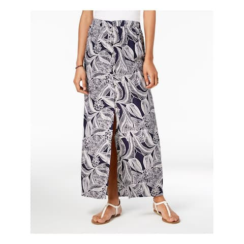 ROXY Womens Navy Printed Maxi Skirt Juniors Size: L