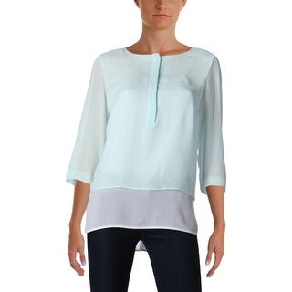 BOSS Hugo Boss Womens Baliana Blouse Sheer Layered
