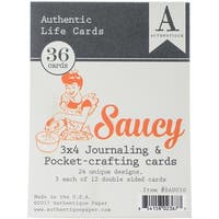 "Saucy Authentic Life Cards 36/Pkg-3""X4"" Pocket Crafting & Journaling Cards"