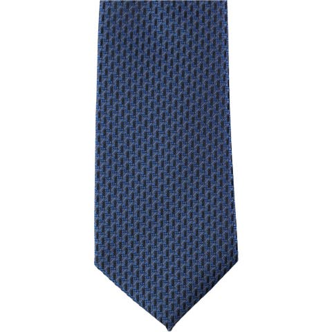 Perry Ellis Mens Textured Self-tied Necktie, blue, One Size - One Size