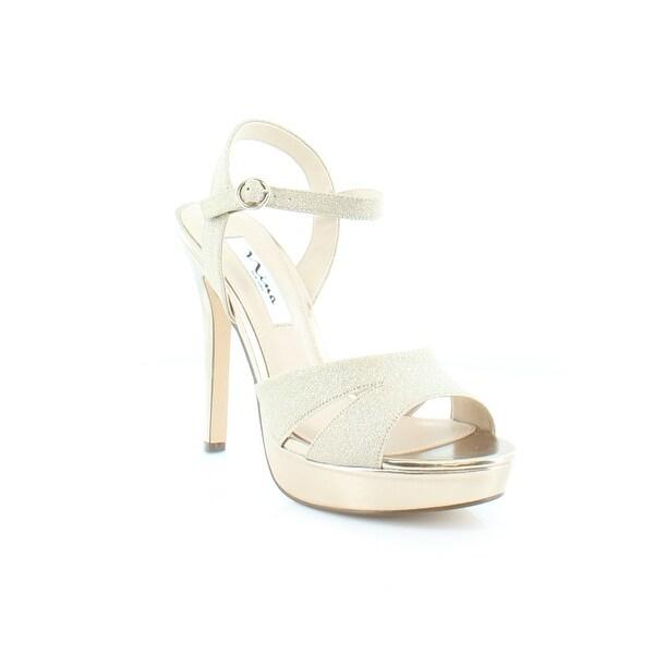 Nina Shara Women's Heels Gold Glitter - 8.5