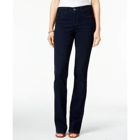 "Style & Co Women's Tummy Modern Boot Leg Jeans Dark Blue Size 14"" - 14"
