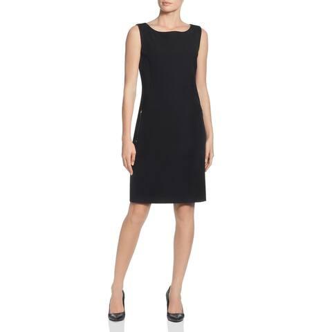 Tahari Womens Sheath Dress Pocket Sleeveless - Black