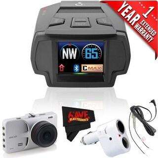 Cobra Electronics SPX 7800BT Radar/Laser/Camera Detector + Minolta MNCD53-S Dashboard Camera (1 Year Extended Warranty)
