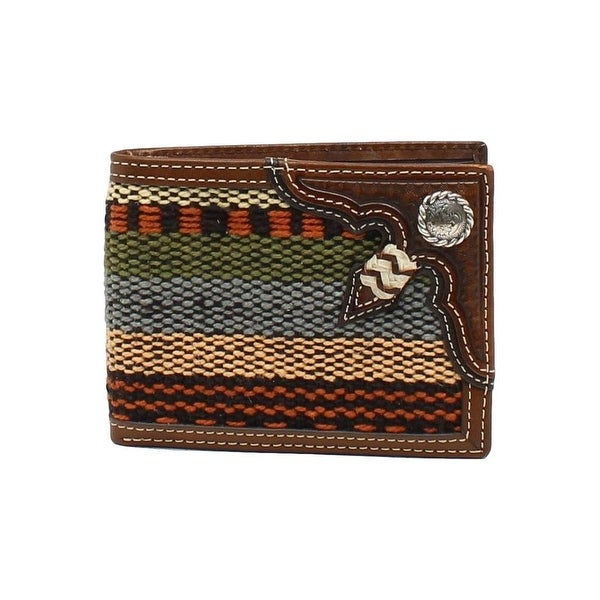 Nocona Western Wallet Mens Bifold Rawhide Floral Multi-Color - One size