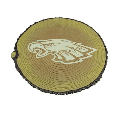 NFL Philadelphia Eagles Glow in the Dark Tree Stump Stepping Stone - 0.75 X 12 X 12 inches