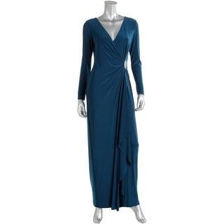 Lauren Ralph Lauren Womens Evening Dress Matte Jersey Embellished