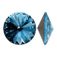 Swarovski Elements Crystal, 1122 Rivoli Fancy Stones 18mm, 2 Pieces, Aquamarine