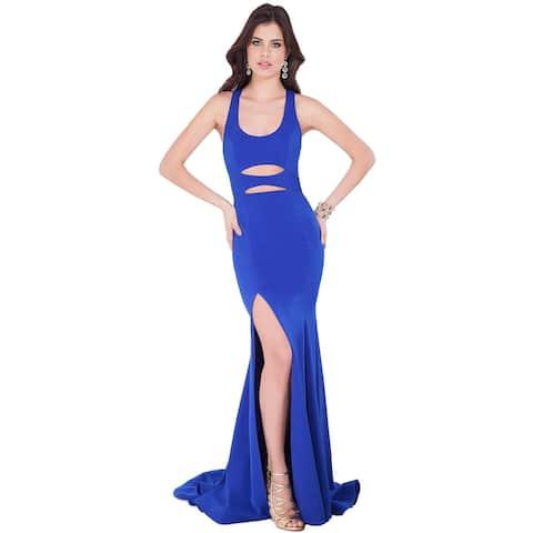 Terani Couture Cut-Out Racerback Formal Dress