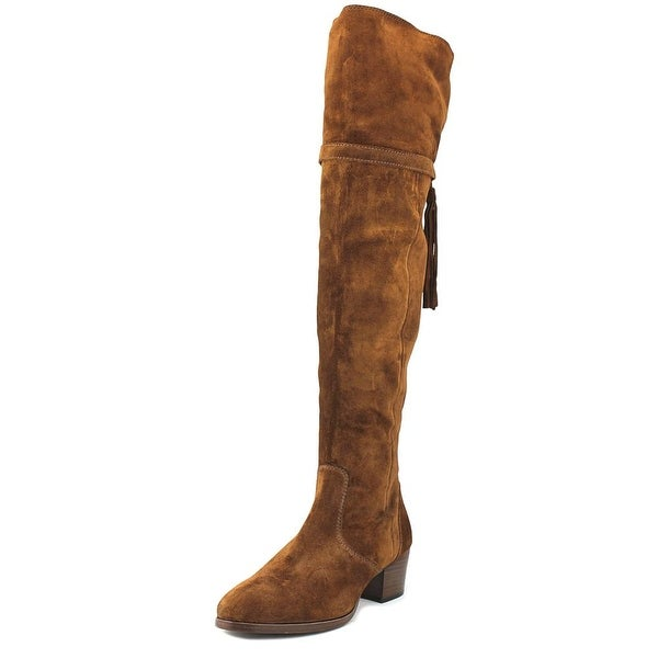 Frye Clara Tassel Over the Knee Women Round Toe Suede Brown Over the Knee Boot