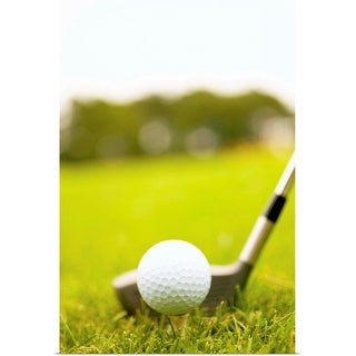 """""""Golf ball and club"""" Poster Print"""