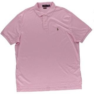 Polo Ralph Lauren Mens Cotton Ribbed Trim Polo Shirt - XXL