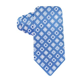 Alfani Spectrum Tortola Neat Silk Blend Classic Necktie Cobalt Blue Diamond Tie
