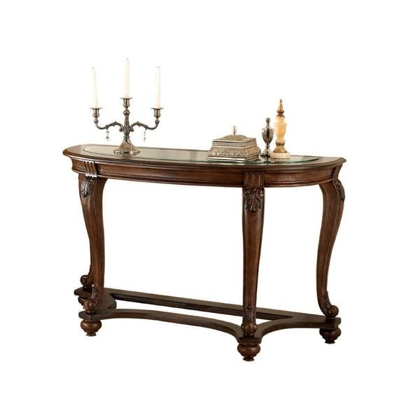 Shop Ashley T499 4 Norcastle Dark Brown Sofa Table W Hand