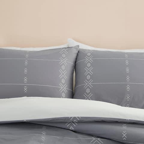 Nourison Dreamscape Grey Tribal 3 PC Comforter Set