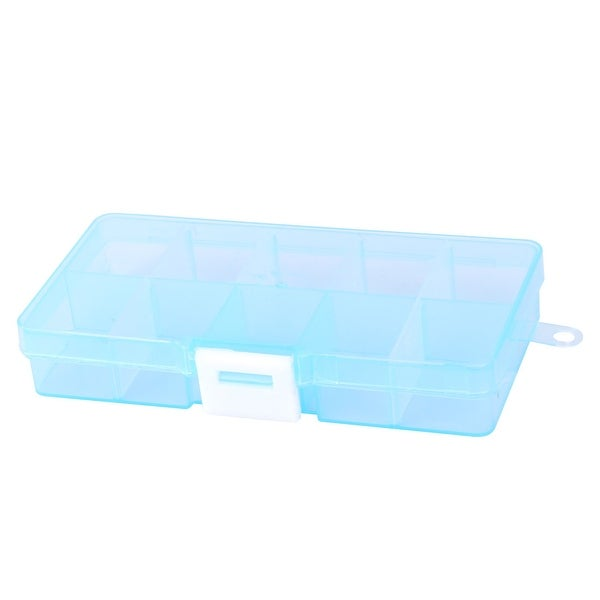 Shop Home Plastic Adjustable 10 Compartments Beads Pill