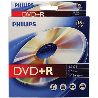 Philips(R) - Dr4s6b10b/17 - Dvd+R 16X 10Pk Peg Bx