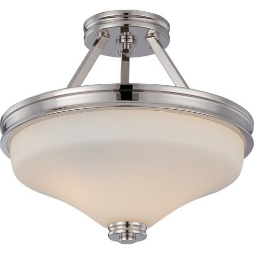 "Nuvo Lighting 62/424 Cody 2 Light 13"" Wide LED Semi-Flush Bowl Ceiling Fixture"