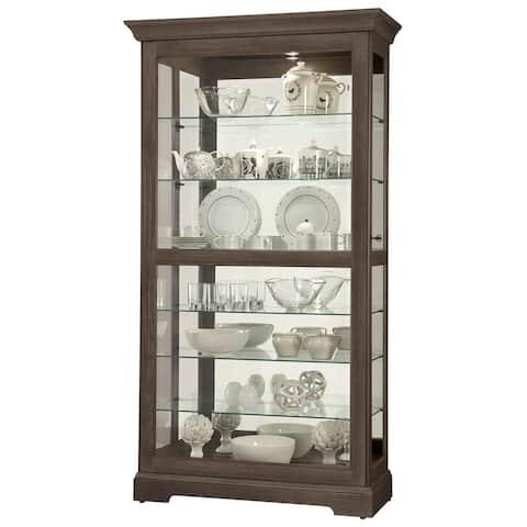 Howard Miller Tyler VI Brown Solid Wood 7-shelf Curio Cabinet