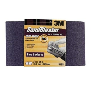 3M 9195NA Sanding Belt 3''x24'', 80 Grit, Medium