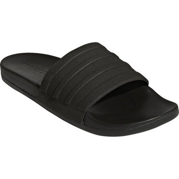 4a6b1e3daece2 Shop adidas Men s Adilette Cloudfoam Plus Slide Black Black Black ...